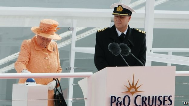 The Queen and Captain Paul Brown