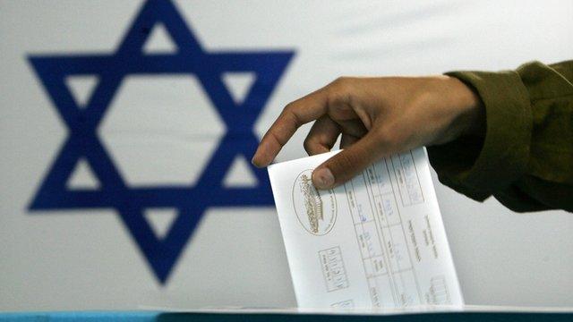 Israeli voter casting ballot, file pic from 2006