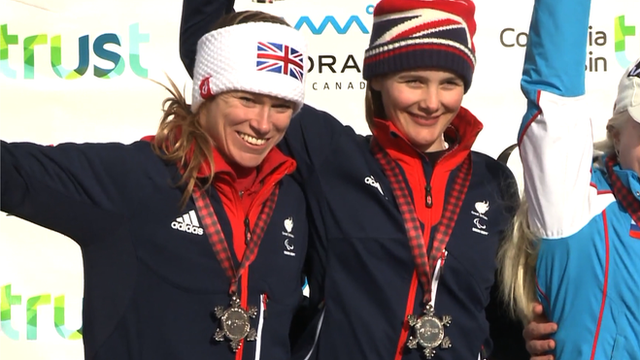 Skier Mille Knight and guide Jen Kehoe win Para-alpine World silver