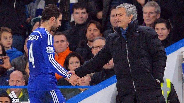 Champions League: Chelsea-Paris St Germain - Mourinho & Fabregas