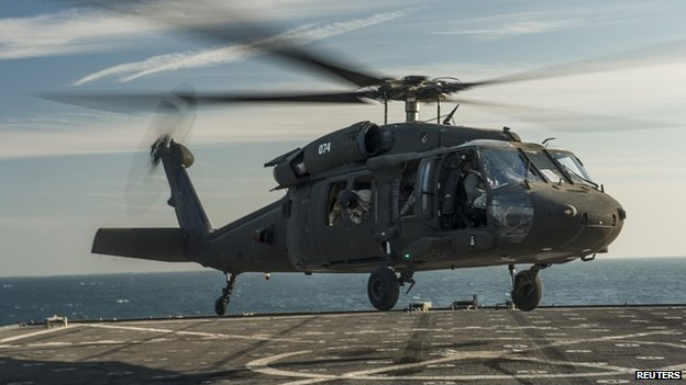 A US Army UH-60 Black Hawk helicopter