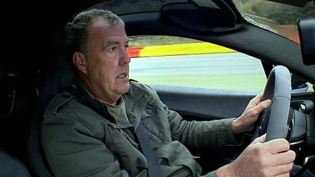 Jeremy Clarkson in driving seat