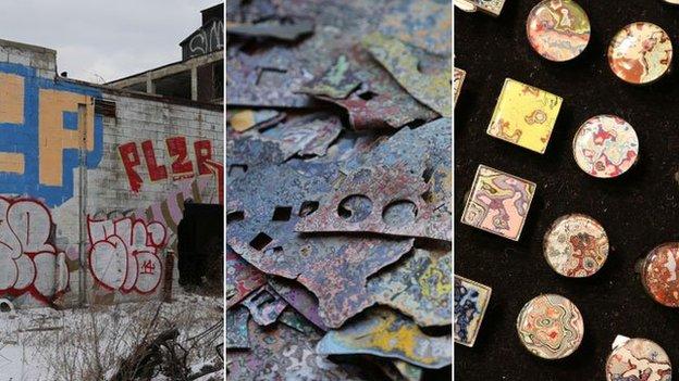 from fallen graffiti to jewellery