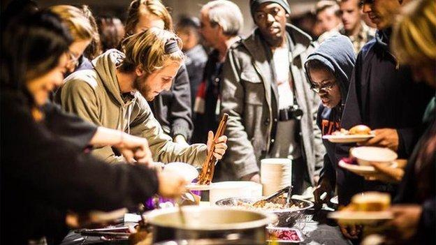 Detroit Soup attendees