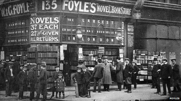 Foyles' original store on Charing Cross Road