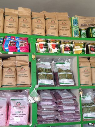 Small packets of seed (Image: Markets Matter)