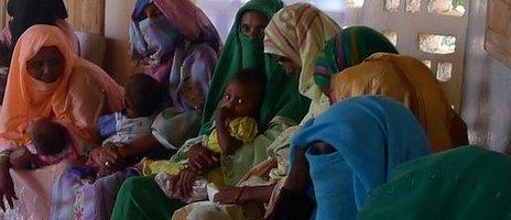 Mothers at the Embaderho health clinic outside Asmara