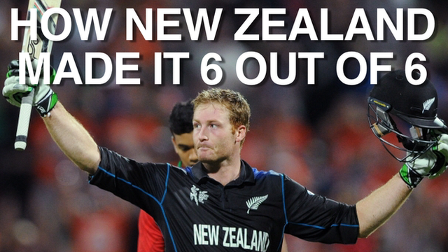 Martin Guptill guided New Zealand to victory over Bangladesh