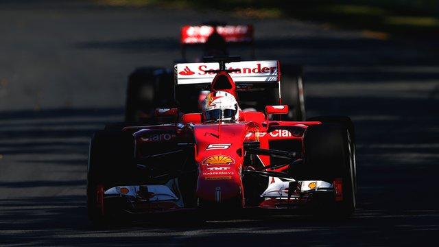 Sebastian Vettel during practice for the Australian Formula One Grand Prix at Albert Park