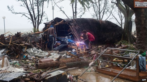 Storm damage in Port Vila, Vanuatu. 14 March 2015