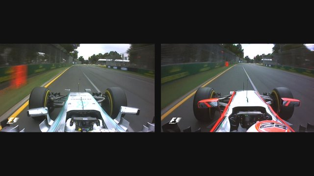 A side-by-side comparison of the Mercedes and McLaren