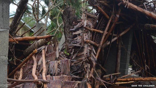Destruction caused by Cyclone Pam in Vanuatu, 14 March 2015