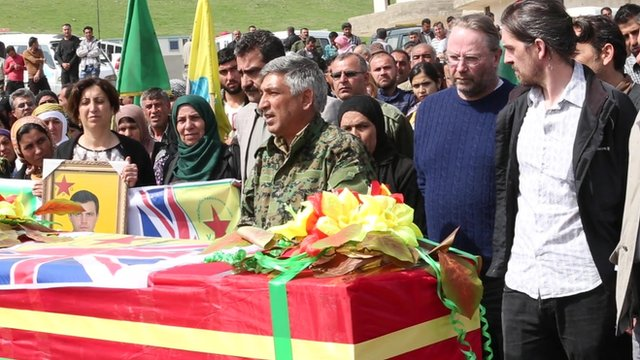 Kurds and family gather in Syria to pay respects to Konstandinos Erik Scurfield