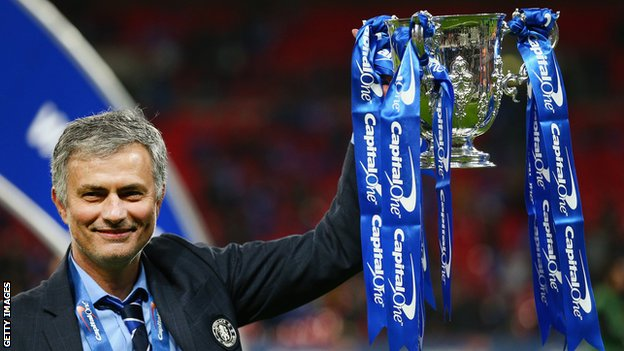 BBC Sport - Jose Mourinho 'happy' only a few managers can match his success