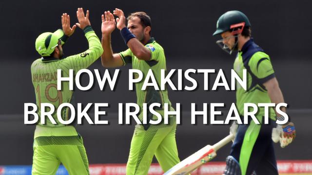 Pakistan beat Ireland at the 2015 Cricket World Cup