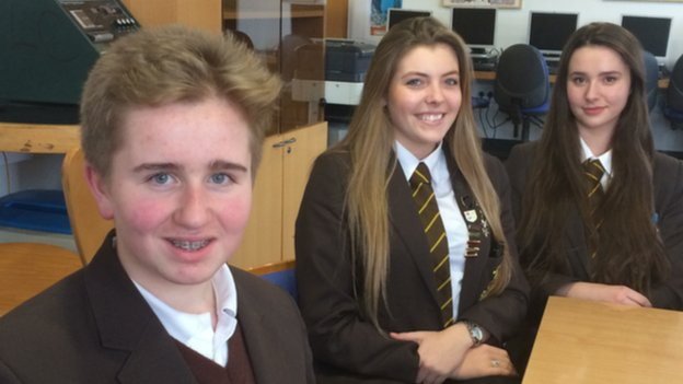 Max, Myan and Jodie from Poulton