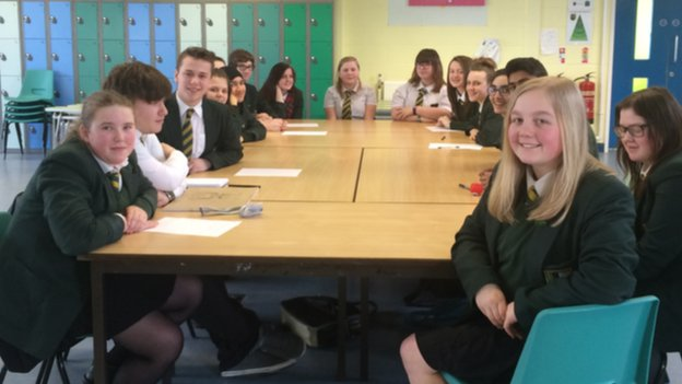 Blackpool school parliament group