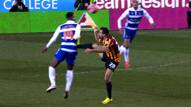 Bradford City's Filipe Morais fouls Reading's Nathaniel Chalobah in the FA Cup