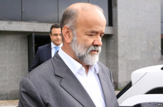 Joao Vaccari after questioning in Sao Paulo, 5 February
