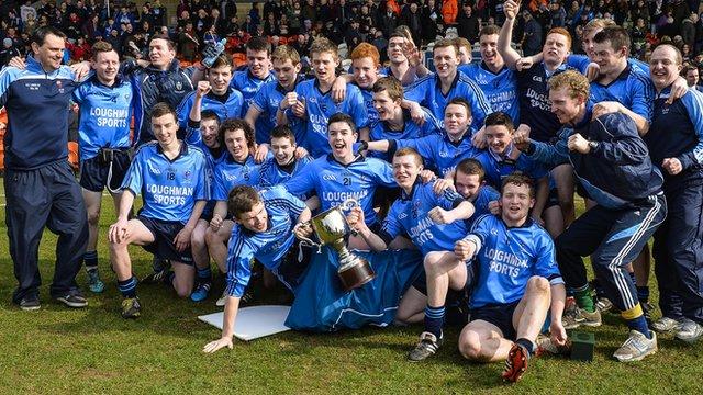 Our Lady's Castleblaney celebrate their MacLarnon Cup triumph