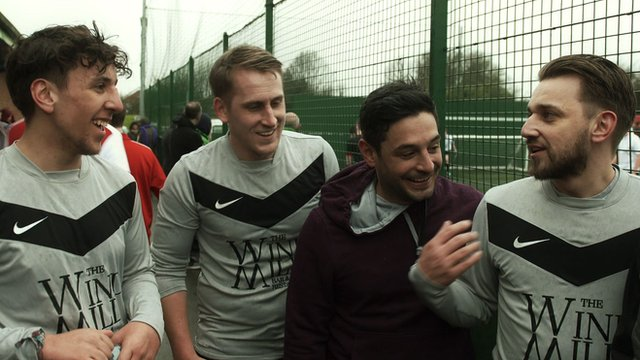 Four of the five Ferguson at the 5-a-side pitch