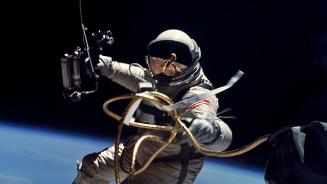 The first American space walk
