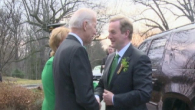 Joe Biden and Enda Kenny