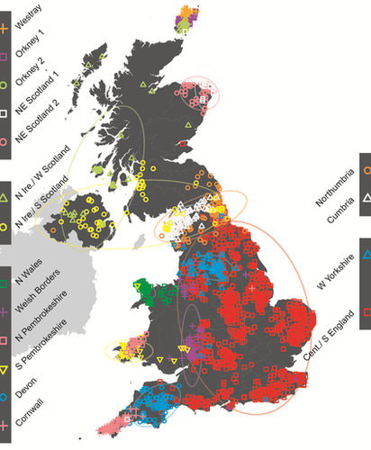 Genetic Map of the UK