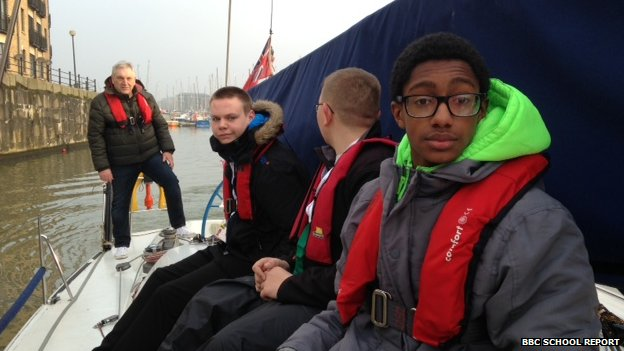 Pupils from The Observatory School, Wirral, on board yacht Diva
