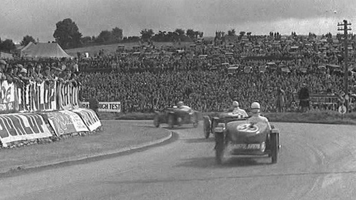 Pathé footage from the Ulster Tourist Trophy at the Ards Circuit on 3 September 1934