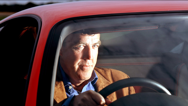Jeremy Clarkson behind wheel of car