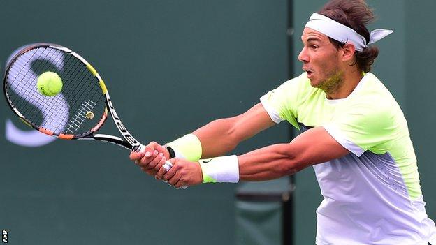 BBC Sport - Federer, Nadal and Djokovic into Indian Wells quarter-finals