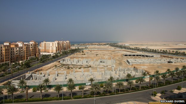 View of buildings under construction