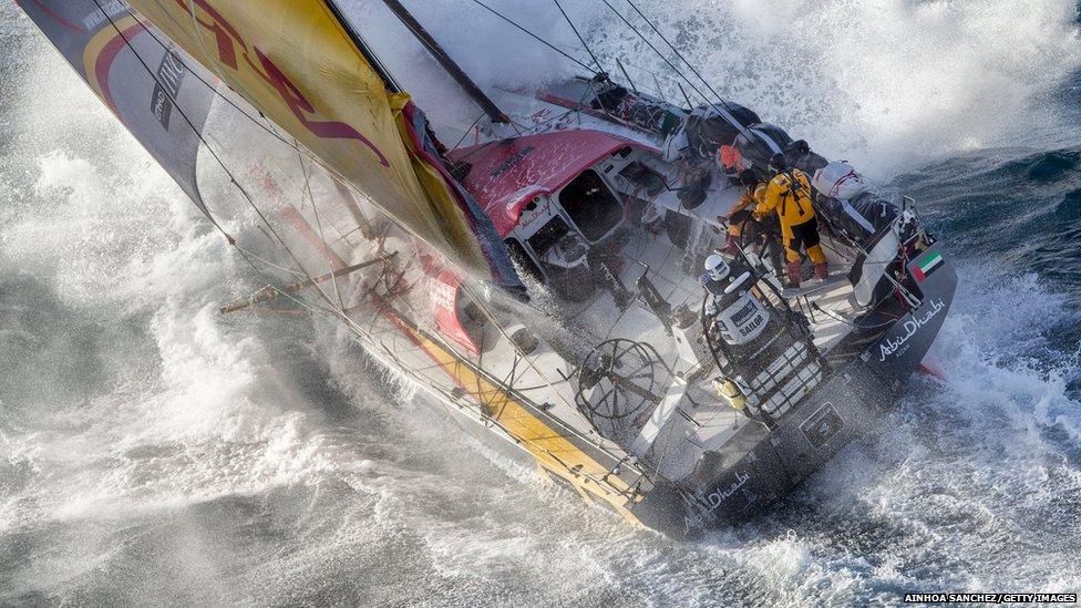 Abu Dhabi Ocean Racing tackles steep and angry seas a