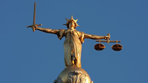 The figure of Lady Justice