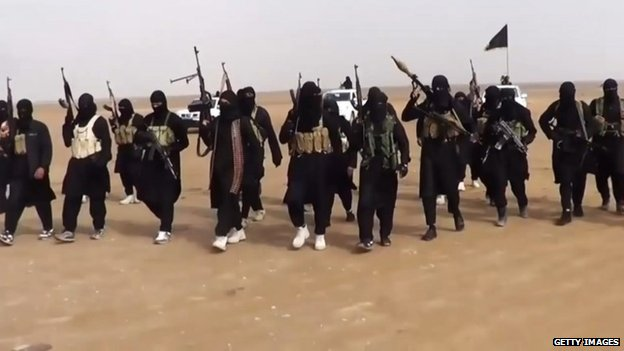 An image grab taken from a propaganda video uploaded on June 11 2014 by jihadist group the Islamic State