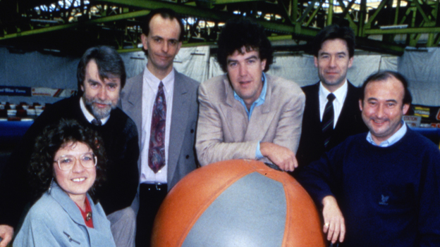 Jeremy Clarkson and fellow Top Gear presenters in 1992