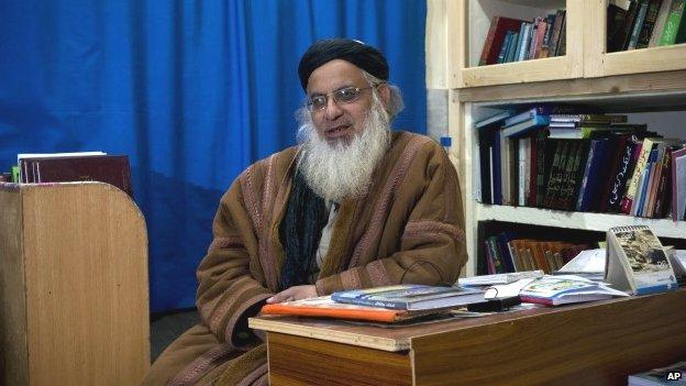 Pakistani hardline cleric Maulana Aziz (December 2014)