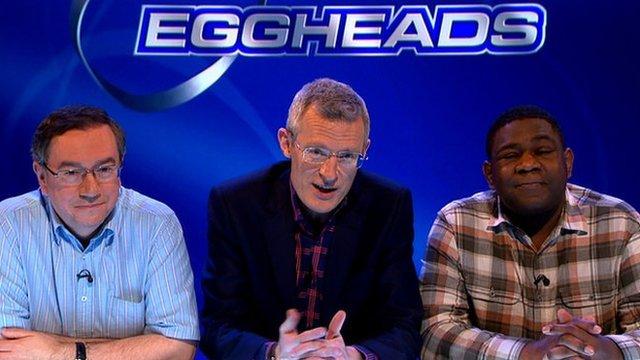 Eggheads' Kevin Ashman, Jeremy Vine and Dave Rainford