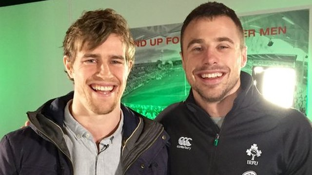 Andrew Trimble interviews Tommy Bowe