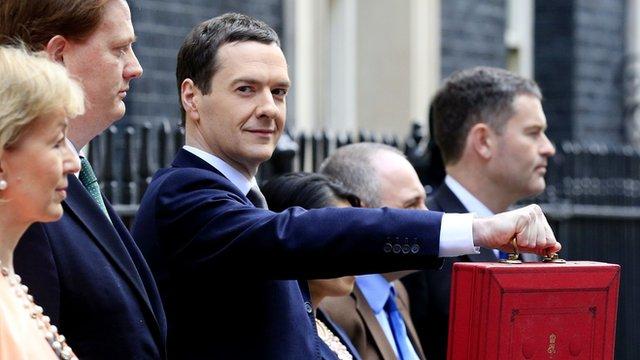 George Osborne with the budget briefcase