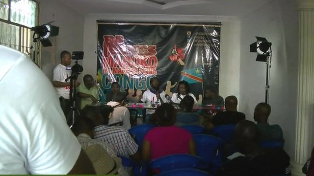 Political activists from Burkina Faso and Senegal