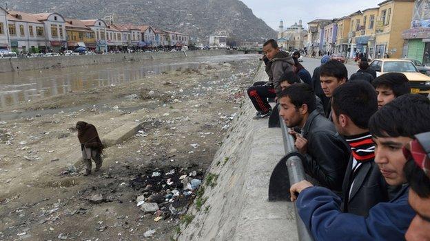 Scene of the killing in Kabul. 20 March 2015