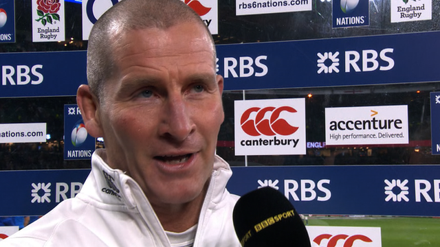 England head coach Stuart Lancaster says that England gave 'one of the most courageous performances' he's seen