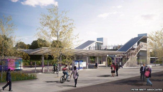 Green Park station plan