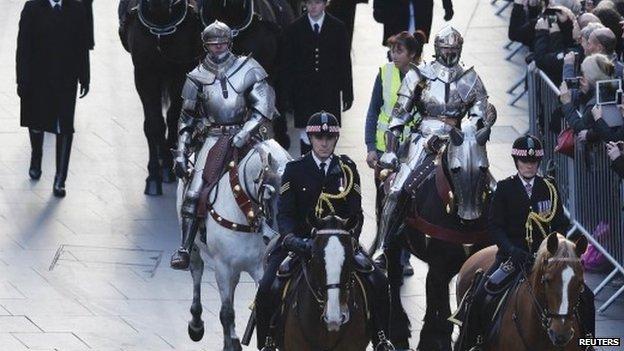 Knights in Richard III procession