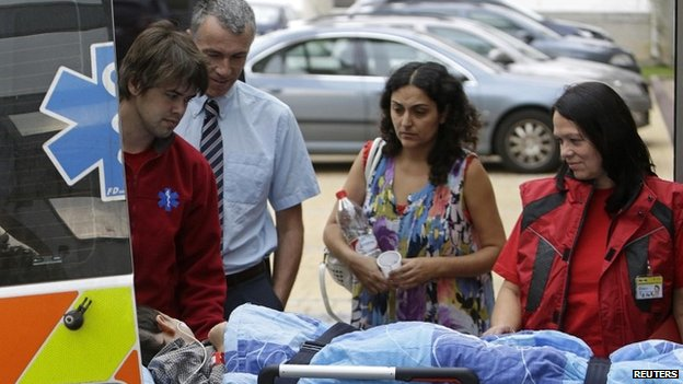 Ashya King and his parents arrive at a hospital in Prague last September
