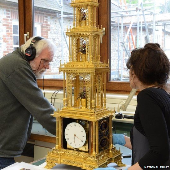 West Dean College staff digitally restoring the chimes