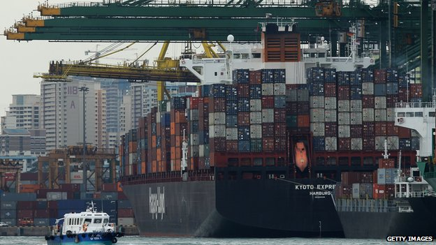 Singapore container shipping port