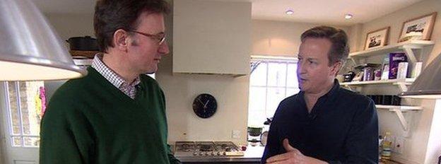 David Cameron and James Landale